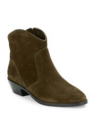 Via Spiga Franka Suede Ankle Boots Military Green