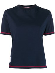 Thom Browne Contrast Cover Stitch Side Slit T Shirt 60