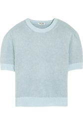 Miu Miu Cropped Angora And Wool Blend Sweater
