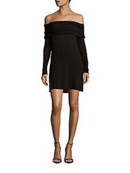 Matty M Solid Off The Shoulder Dress Black