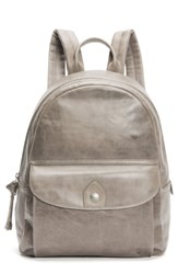 Frye Melissa Leather Backpack Grey Ice