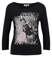 Morgan Tnoto Long Sleeved Top Noir Black