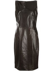 Adam By Adam Lippes Fitted Textured Dress Black