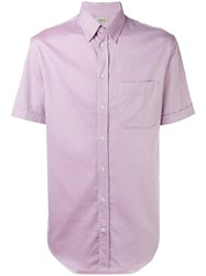 Armani Collezioni Classic Short Sleeved Shirt Pink Purple