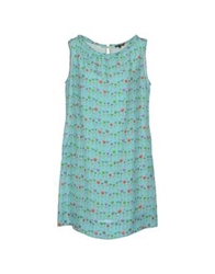 Robert Friedman Short Dresses Light Green
