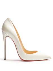 Christian Louboutin So Kate 120Mm Pearlescent Pumps White