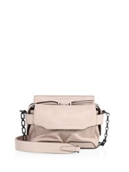 Rag And Bone Micro Pilot Leather Satchel Raw Umber Rose Dust