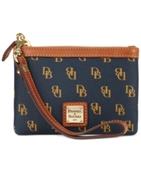 Dooney And Bourke Gretta Medium Signature Wristlet Navy