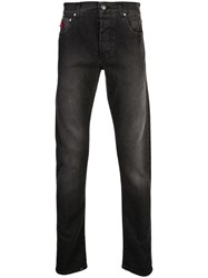 Isaia Straight Leg Jeans Black
