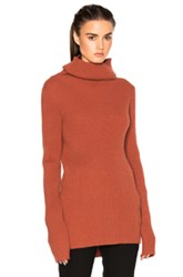 Ann Demeulemeester Turtleneck Sweater In Orange