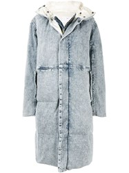 Toga Pulla Layered Padded Coat Blue