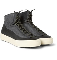 Officine Creative Nomad Nubuck And Leather High Top Sneakers
