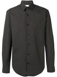 Christophe Lemaire Classic Shirt Men Cotton 50 Green