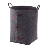 Aquanova Resa Laundry Basket Dark Grey