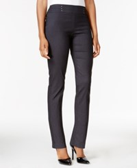 Jm Collection Studded Pull On Pants Waverly Denim