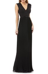 c7f60acf4f4c Kay Unger Sleeveless Pleated Gown Black