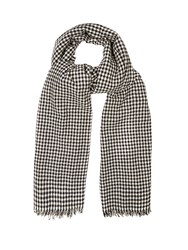 Etoile Isabel Marant Ascah Hound's Tooth Wool Scarf Black White
