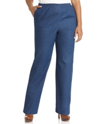 Alfred Dunner Plus Size Denim Pull On Pants