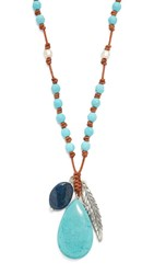 Chan Luu Bella Statement Necklace Turquoise