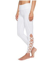 Hard Tail X Side Ankle Leggings White Women's Casual Pants