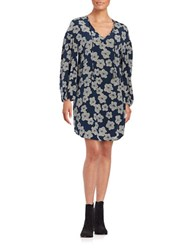 Trina Turk Granville Floral Shift Dress Blue