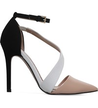 Miss Kg Arielle Patent Heeled Courts Nude