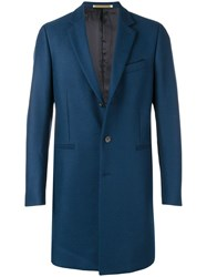 Paul Smith Ps By Single Breasted Coat Blue