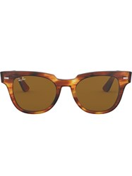 Ray Ban Meteor Stripped Havana Sunglasses Brown