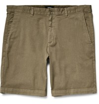 Theory Zaine S Stretch Cotton Twill Shorts Neutrals