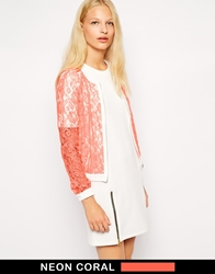 Finders Keepers Let Love Rule Bomber Jacket Sherbertivory