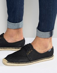 Soludos Lace Up Mesh Espadrilles Black