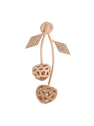 Natasha Zinko 14Kt Rose Gold And Diamond Mini Cherry Earring