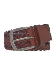 Howick Plaited Leather Belt Tan