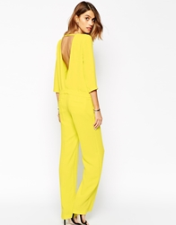 Baandsh Julia Jumpsuit With Low Back Yellow