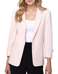 Tahari By Arthur S. Levine Traditional Fit Roll Up Jacket Petal Pink