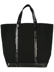 Vanessa Bruno Sequin Embellished Tote Women Cotton Sequin One Size Black