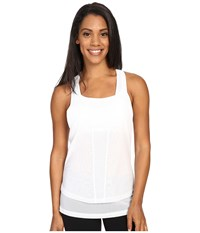 Zobha Cody Mesh Racerback Singlet Bright White Women's Workout