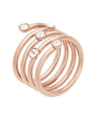 Michael Kors Rose Goldtone Swirl Ring