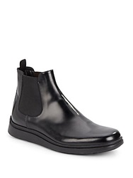 Giorgio Armani Leather Boots Solid Black