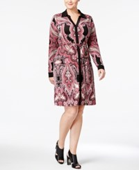 Inc International Concepts Plus Size Printed Shirtdress Only At Macy's Enchanted Paisley