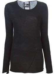 Lost And Found Fine Knit Sweater Black