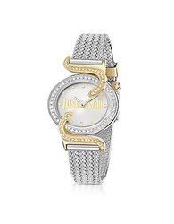 Just Cavalli Sin Jc 2H Two Tone Stainless Steel Women's Watch Silver