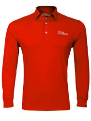 Oscar Jacobson Hubert Tour Long Sleeve Polo Red
