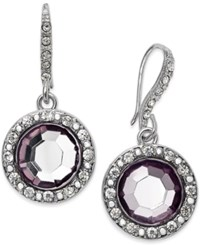 Inc International Concepts Round Stone Drop Earrings Only At Macy's Silver