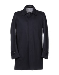 Exibit Overcoats Dark Blue