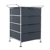 Kartell Mobil 4 Drawer Handles Opaque Slate