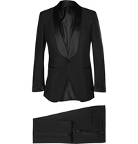 Tom Ford Black Slim Fit Mohair And Wool Blend Tuxedo
