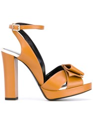 Lanvin Strappy Sandals Women Calf Leather Leather 35 Yellow Orange