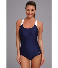 Speedo Contemporary Ultraback One Piece Nautical Navy Women's Swimsuits One Piece