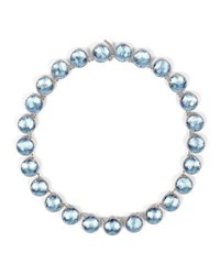 Larkspur And Hawk Olivia Button Riviere Necklace In Chambray Foil Blue